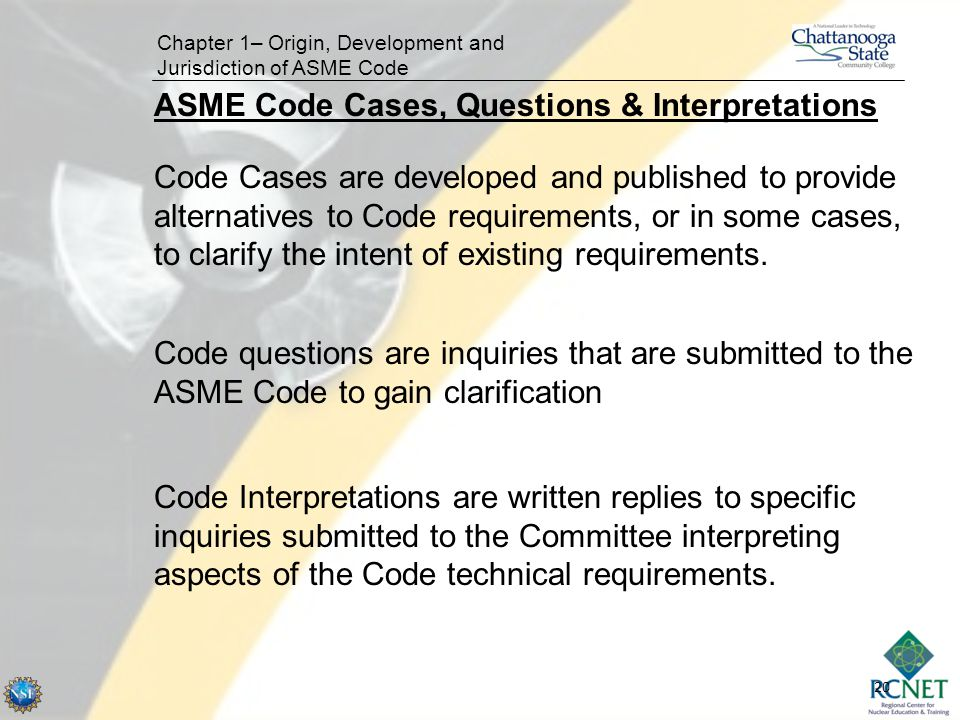 ASME Code Cases, Questions & Interpretations