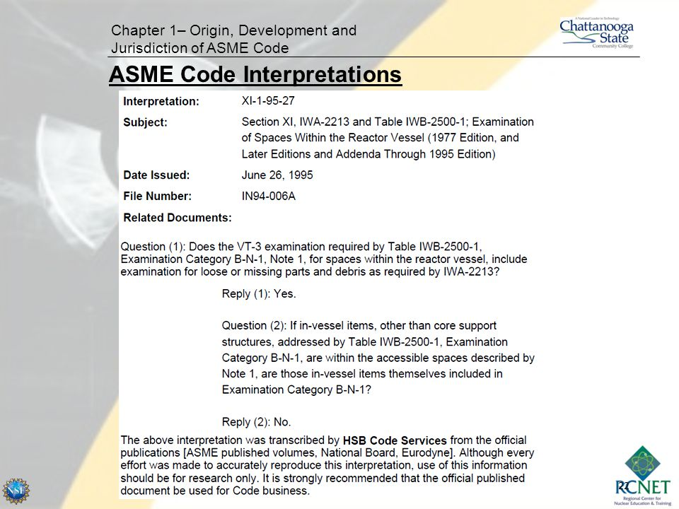 ASME Code Interpretations