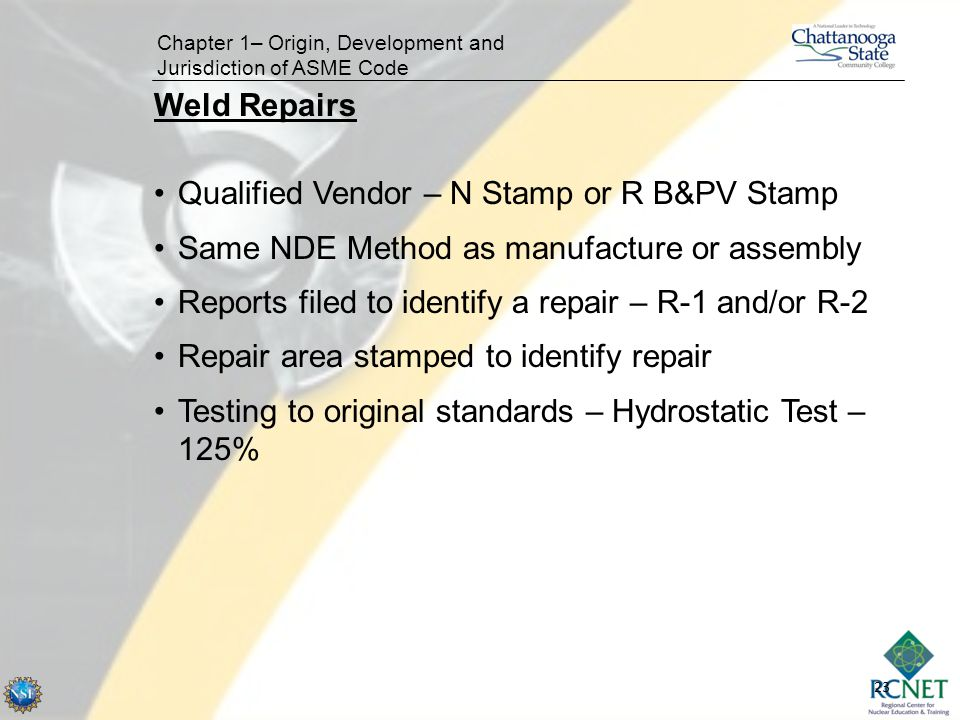 Qualified Vendor – N Stamp or R B&PV Stamp