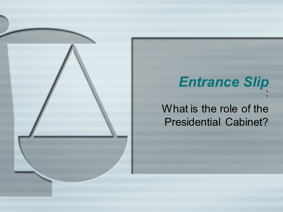 : What is the role of the Presidential Cabinet