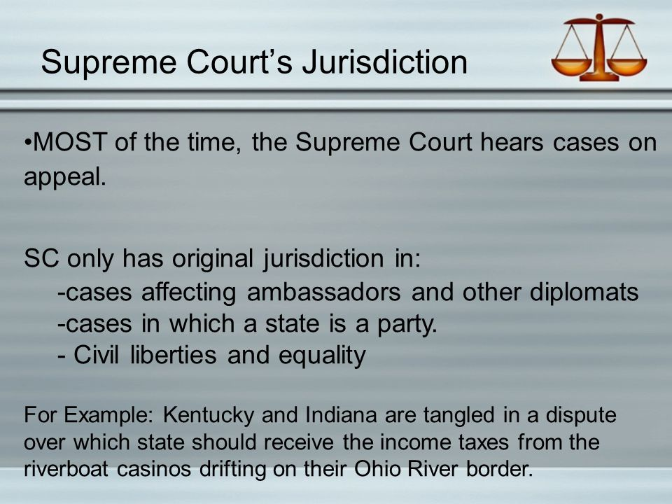 Supreme Court's Jurisdiction