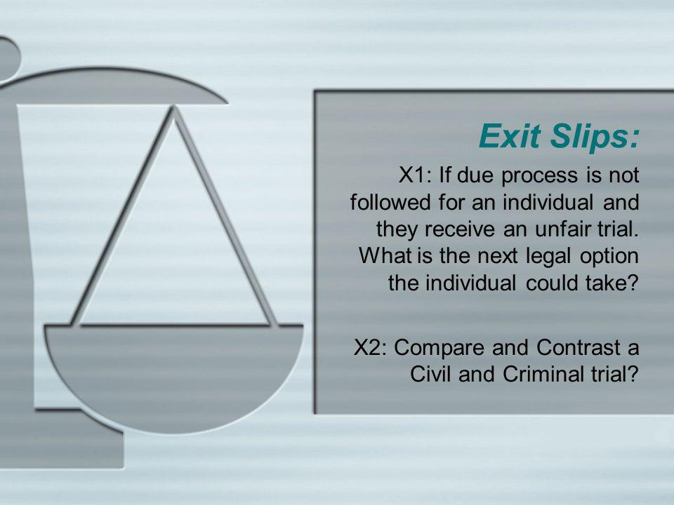 Exit Slips: