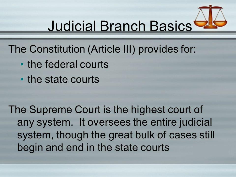 Judicial Branch Basics