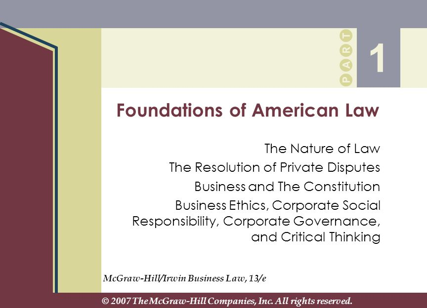 Foundations of American Law