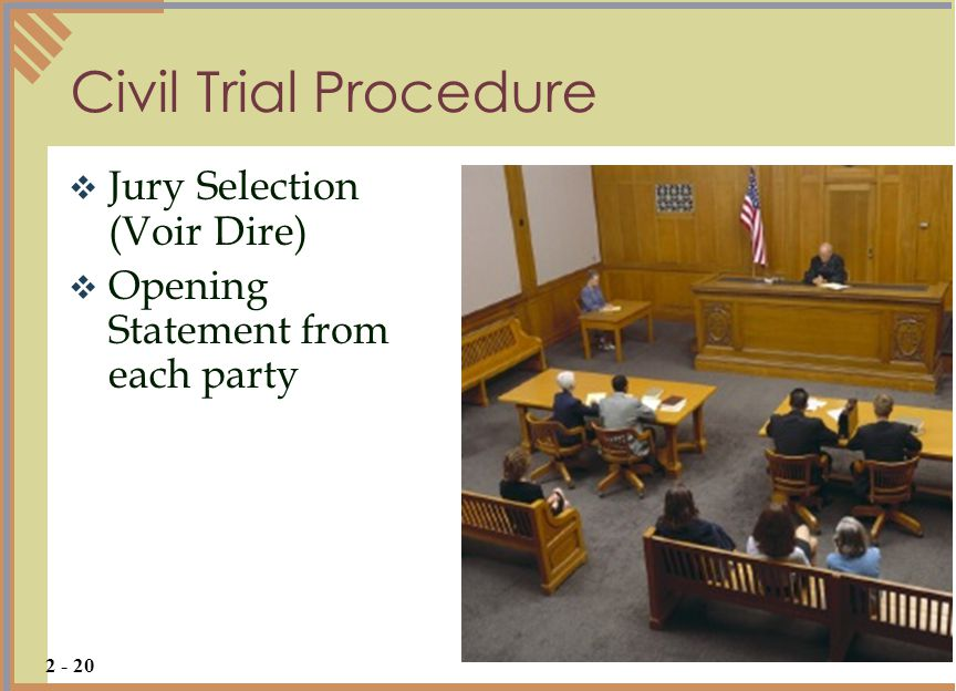 Civil Trial Procedure Jury Selection (Voir Dire)