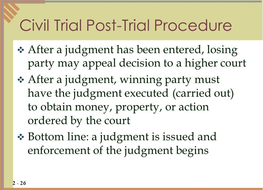 Civil Trial Post-Trial Procedure
