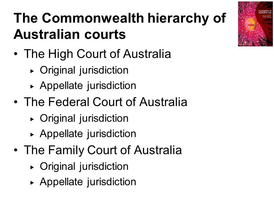 The Commonwealth hierarchy of Australian courts