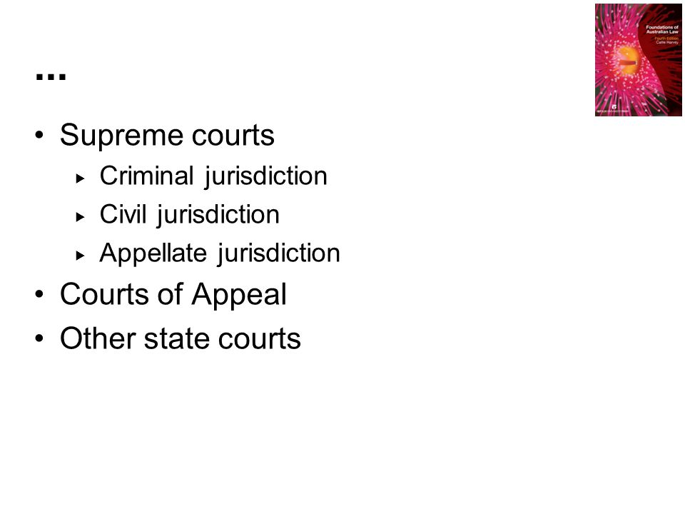 ... Supreme courts Courts of Appeal Other state courts