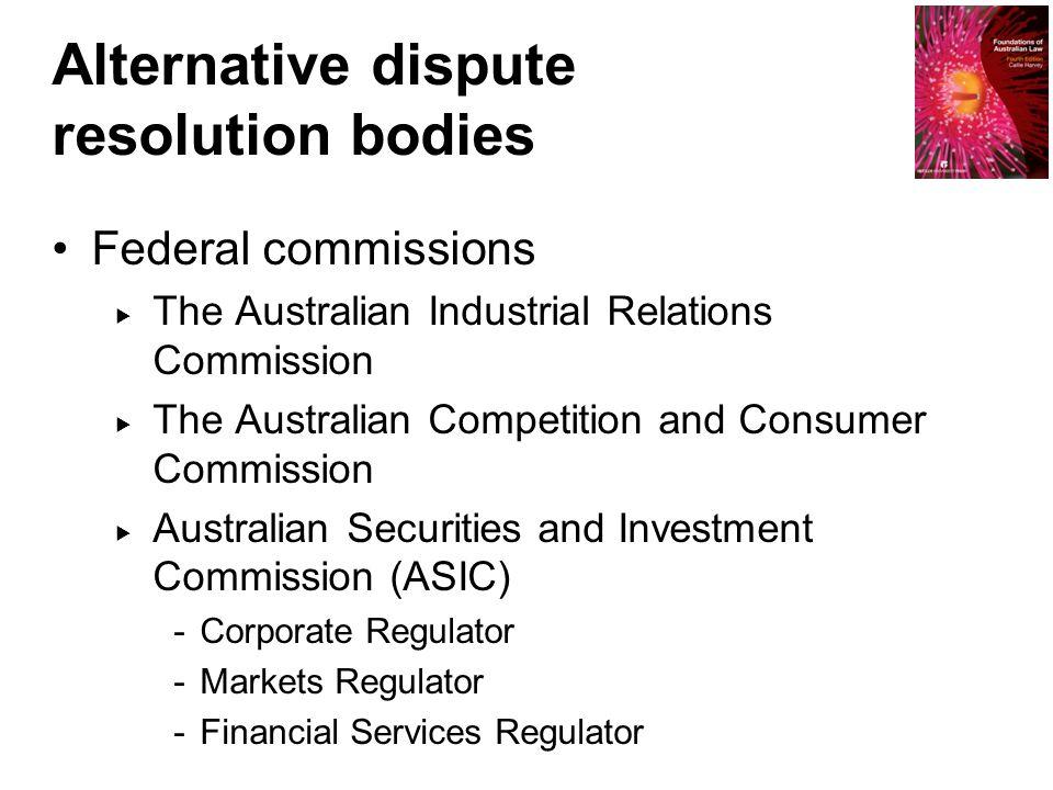 Alternative dispute resolution bodies