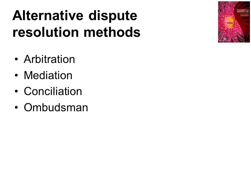 Alternative dispute resolution methods