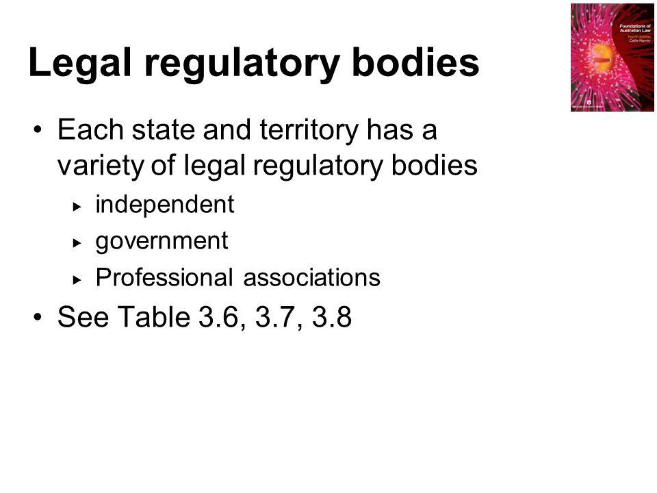 Legal regulatory bodies