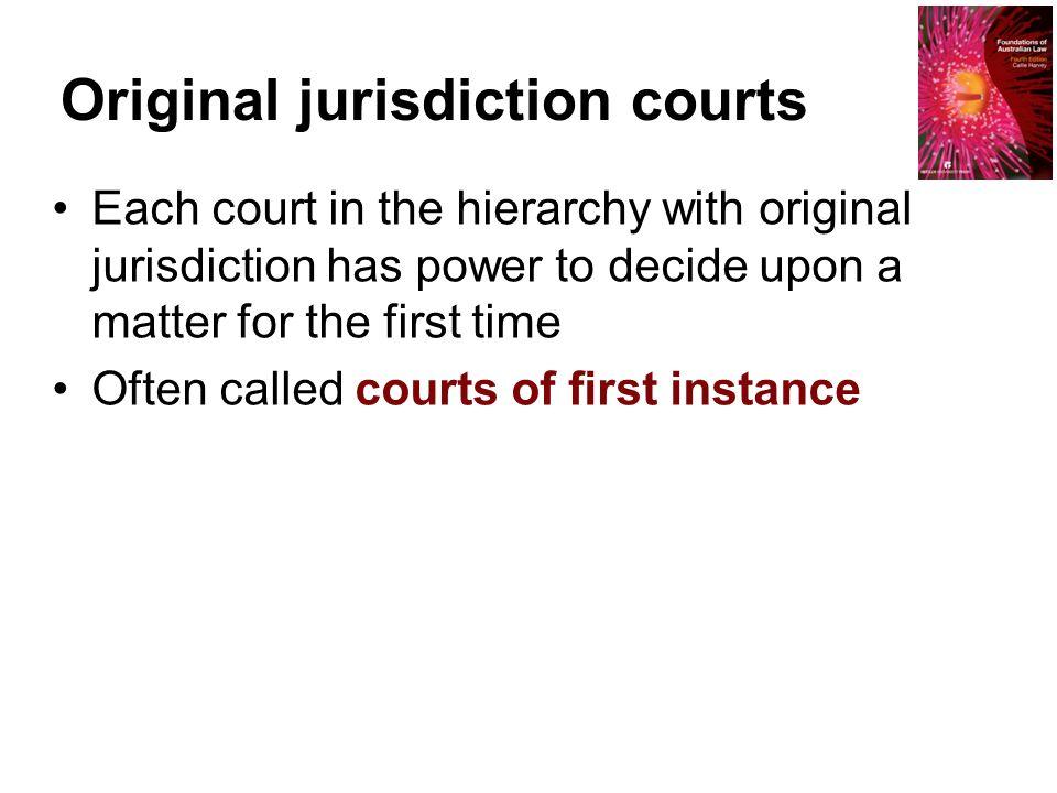 Original jurisdiction courts