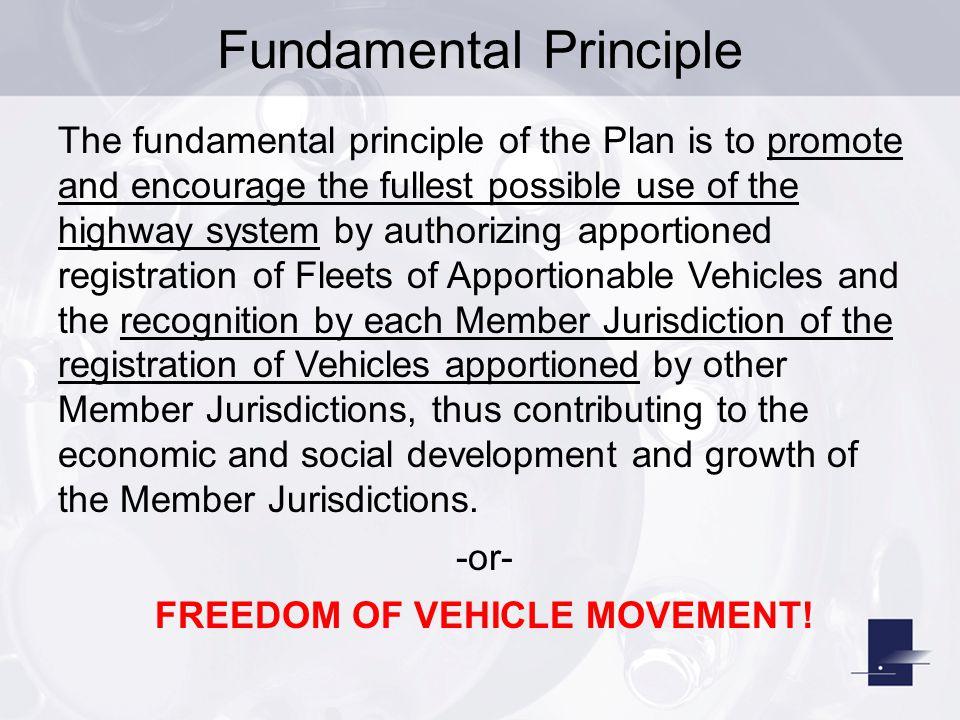 FREEDOM OF VEHICLE MOVEMENT!
