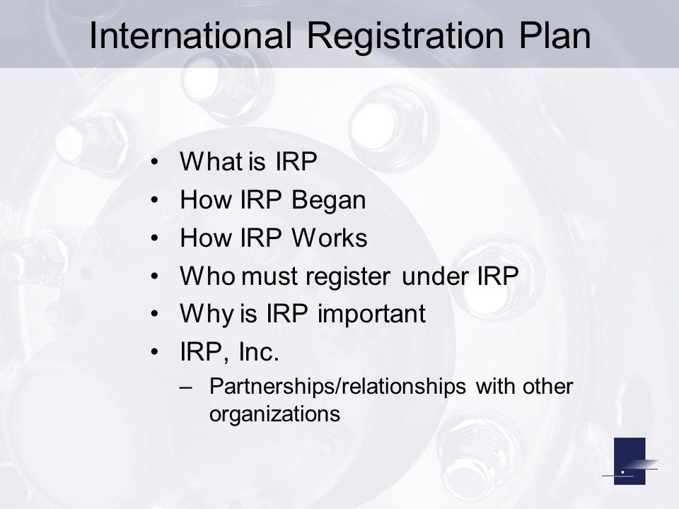 International Registration Plan