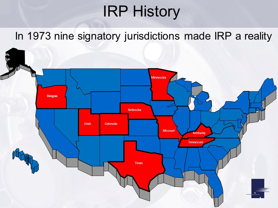 In 1973 nine signatory jurisdictions made IRP a reality