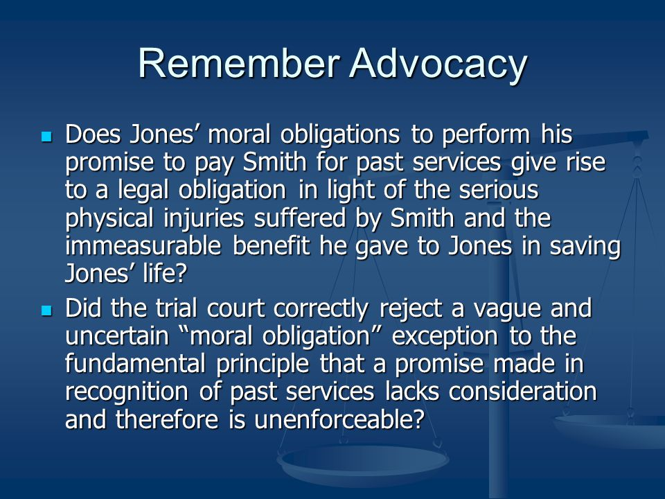 Remember Advocacy