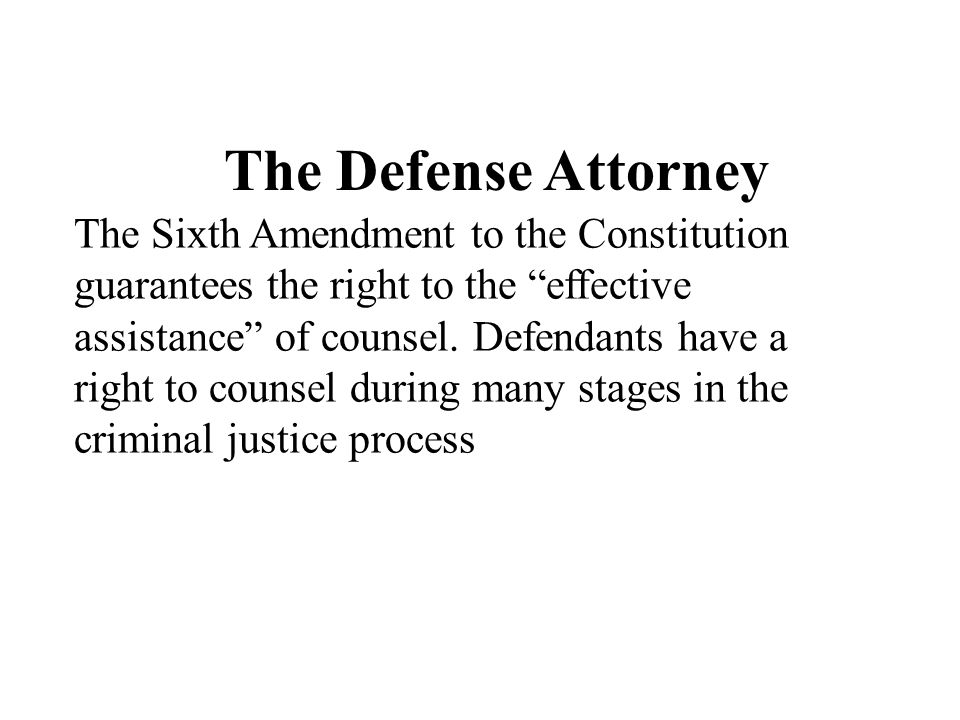 The Defense Attorney