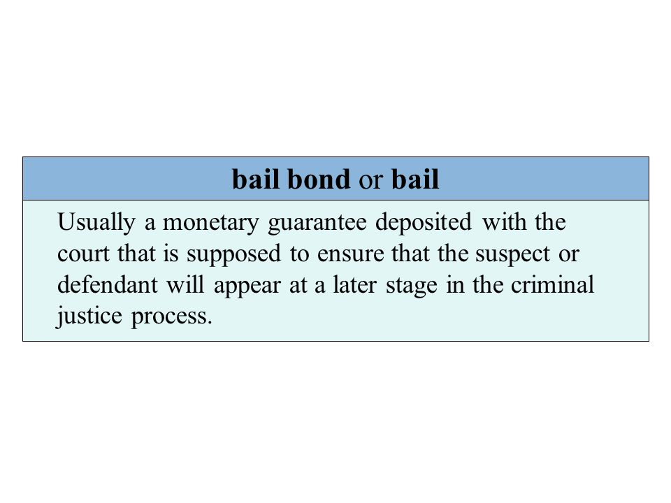 bail bond or bail