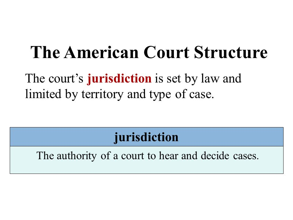 The American Court Structure