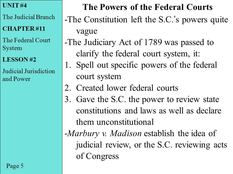 The Powers of the Federal Courts