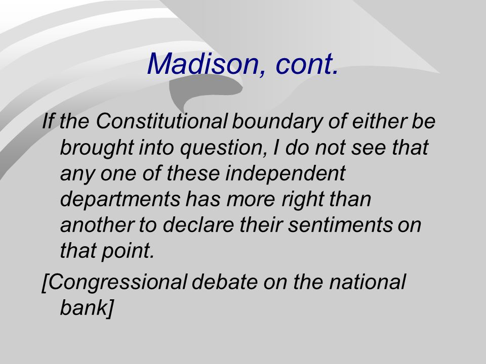 Madison, cont.