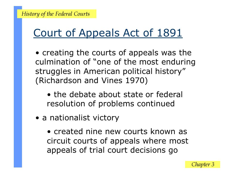 Court of Appeals Act of 1891