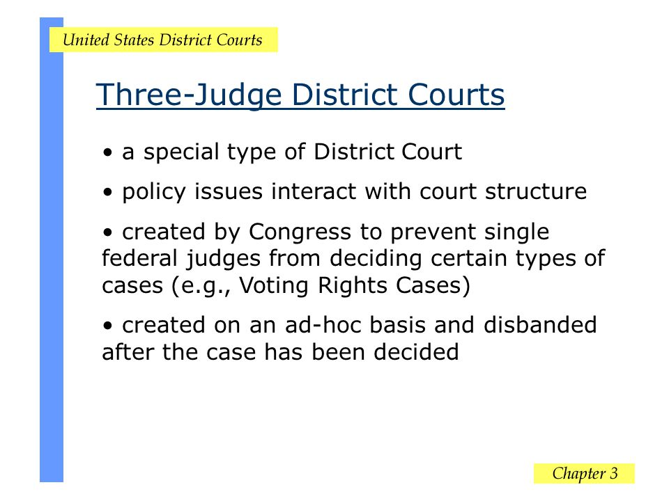 Three-Judge District Courts