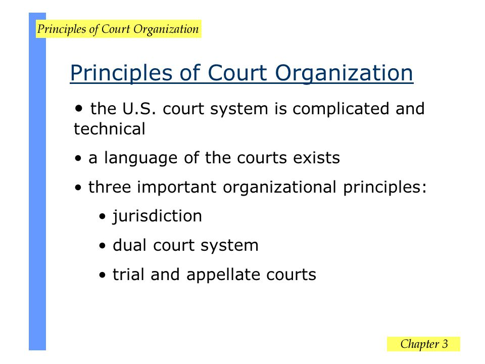 Principles of Court Organization