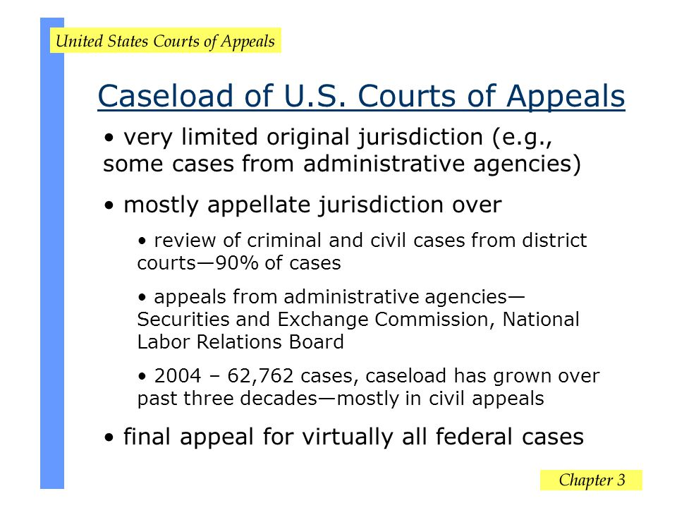 Caseload of U.S. Courts of Appeals