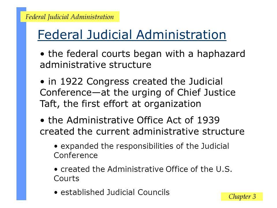 Federal Judicial Administration