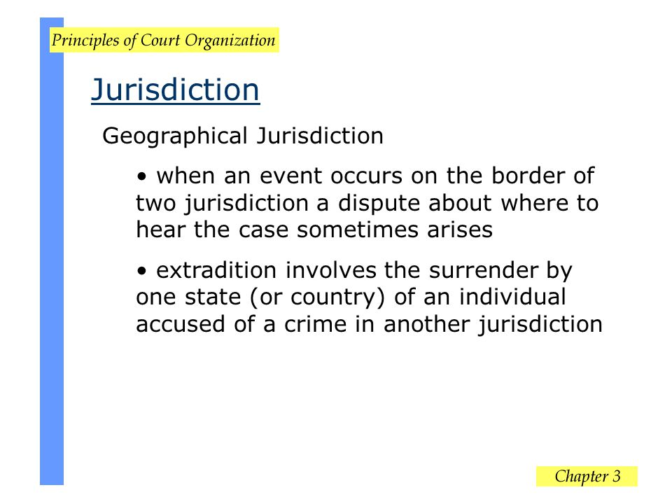 Jurisdiction Geographical Jurisdiction
