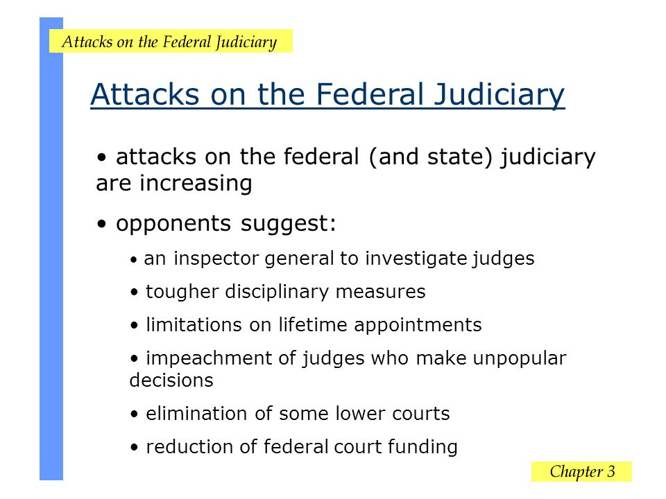 Attacks on the Federal Judiciary