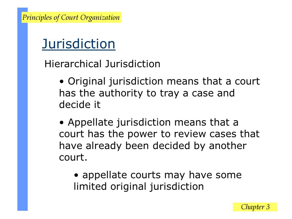 Jurisdiction Hierarchical Jurisdiction