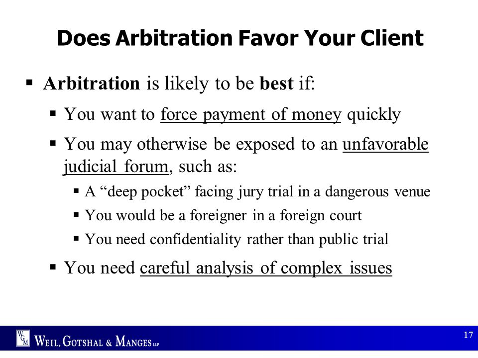 Does Arbitration Favor Your Client