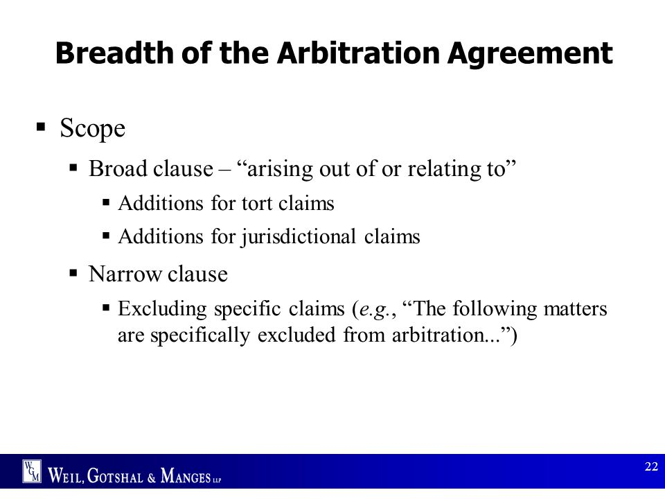Breadth of the Arbitration Agreement