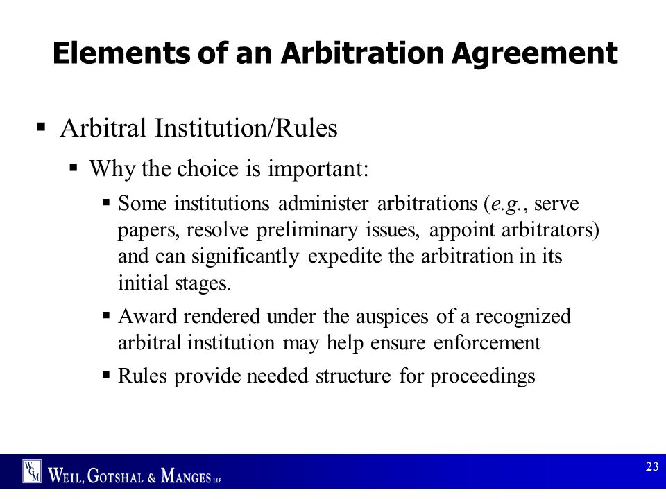 Elements of an Arbitration Agreement