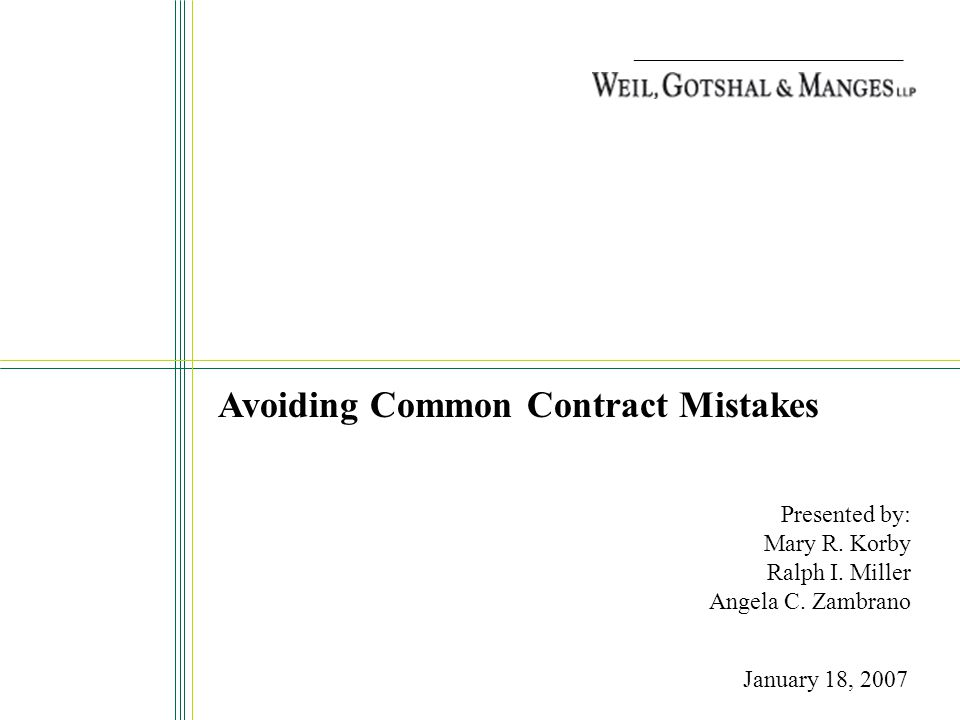 Avoiding Common Contract Mistakes