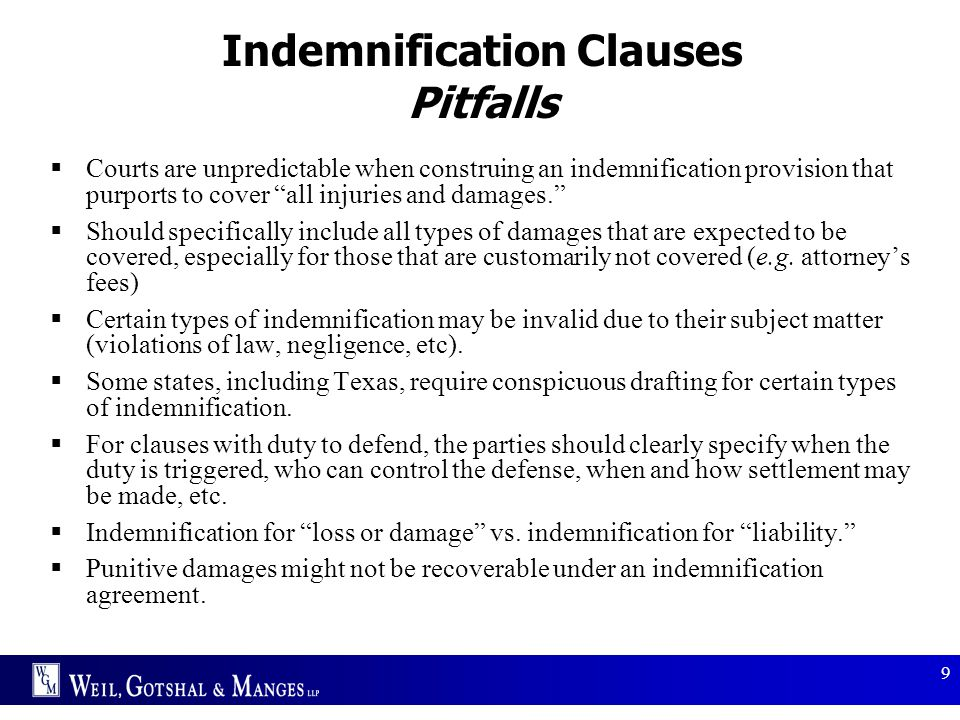 Indemnification Clauses Pitfalls