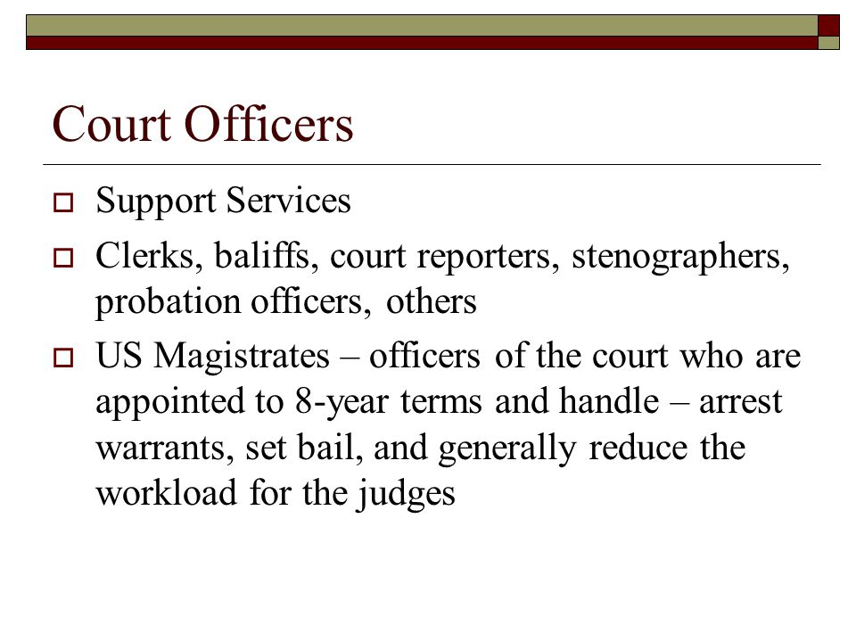 Court Officers Support Services