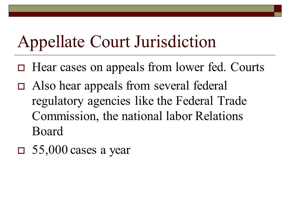 Appellate Court Jurisdiction
