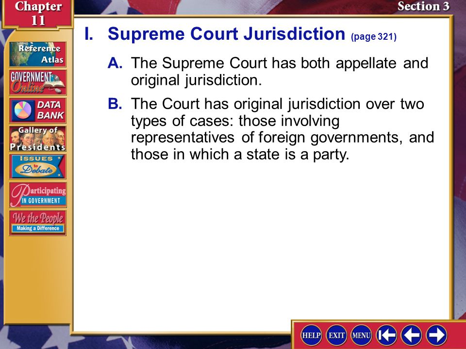 I. Supreme Court Jurisdiction (page 321)