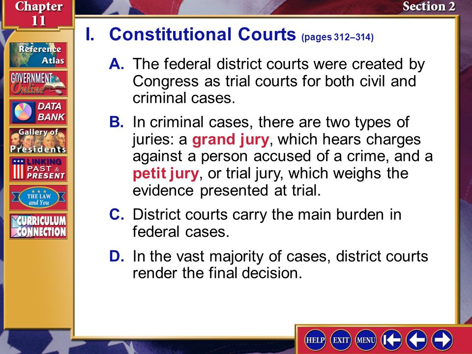 I. Constitutional Courts (pages 312–314)