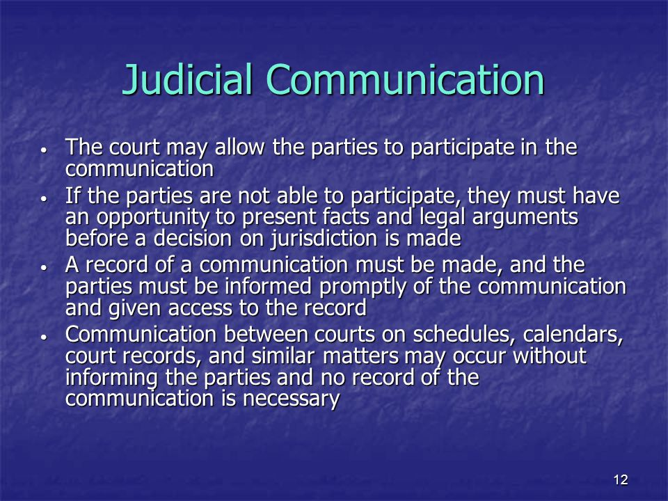 Judicial Communication