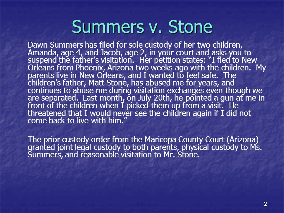 Summers v. Stone
