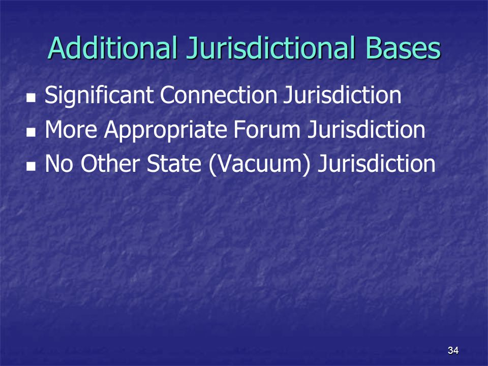 Additional Jurisdictional Bases