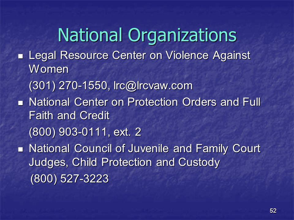 National Organizations