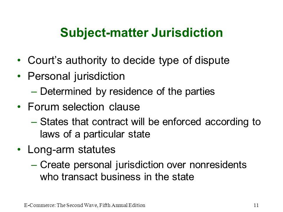 Subject-matter Jurisdiction