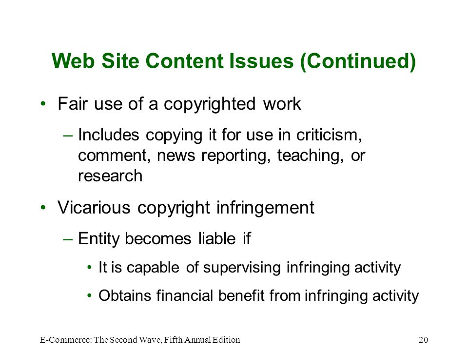 Web Site Content Issues (Continued)
