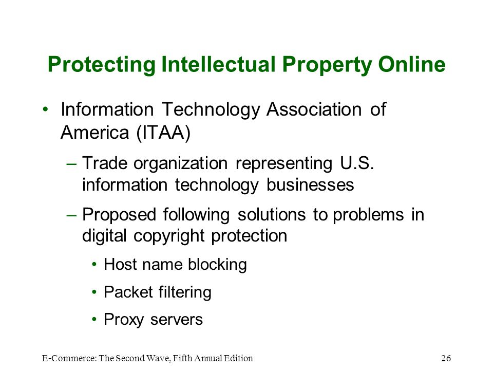 Protecting Intellectual Property Online