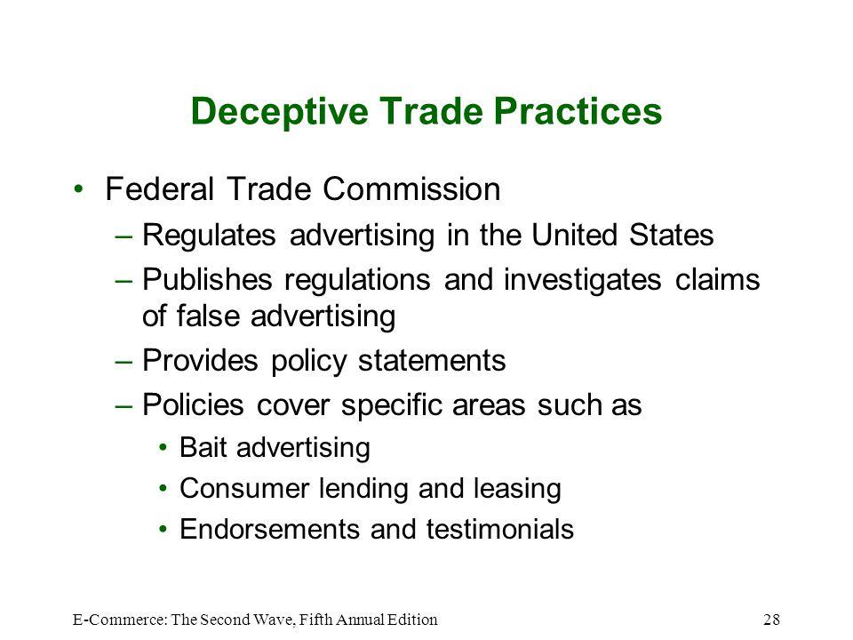 Deceptive Trade Practices